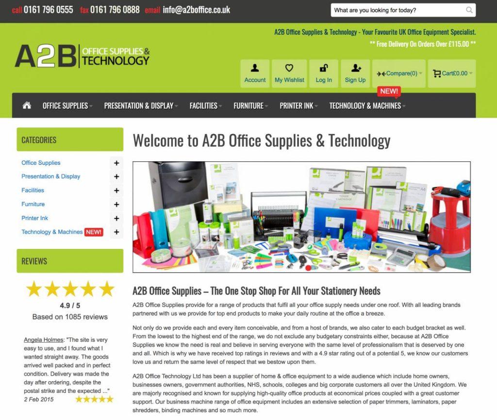 a2b office supplies manchester