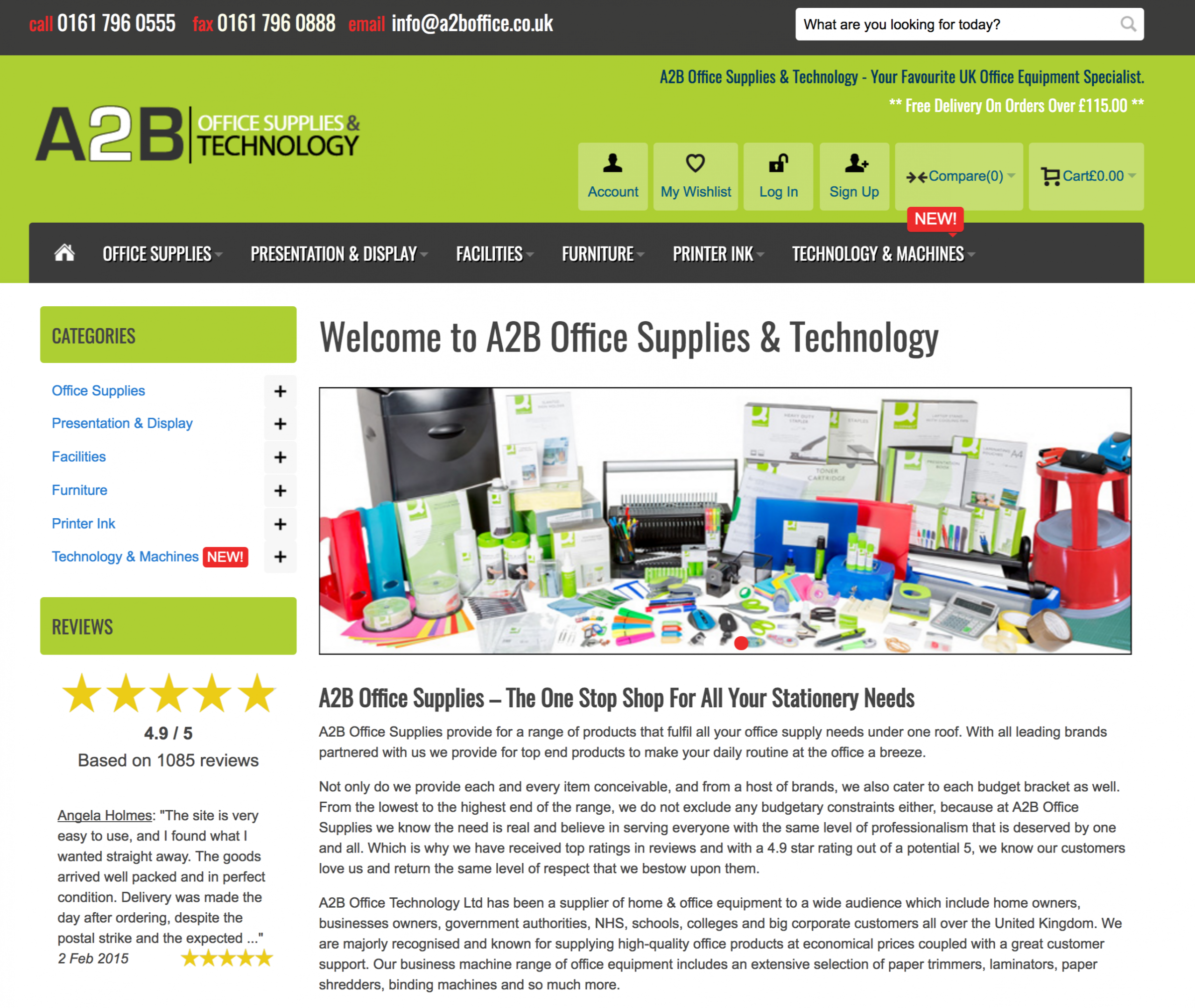 A2B Office Supplies Manchester